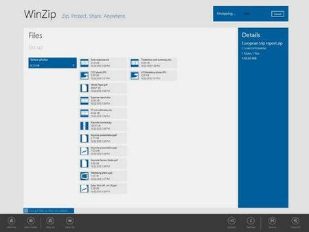 WinZip estrena versión para Windows 8