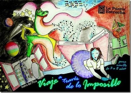 """""""Viaje a través de lo imposible"""": para niños de 3 a 8 años. Los sábados por la mañana en el Teatro de la Puerta Estrecha"""