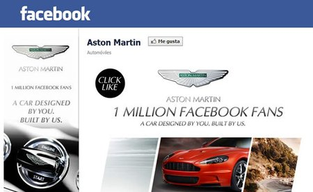 Aston Martin diseñará un coche en colaboración con sus fans, tras superar el millón de usuarios en Facebook