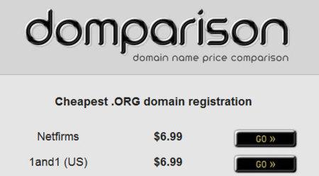 Domparison localiza los mejores precios en dominios