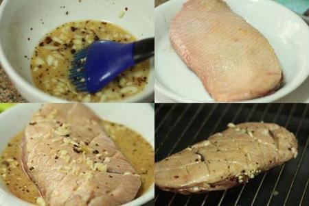 Hacer magret de pato glaseado con miel