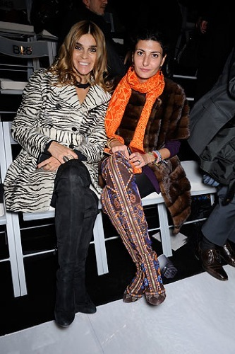 Más celebrities en los front row de los desfiles de Alta Costura en París. Giovanna Battaglia Armani