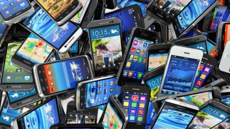 Pila de smartphones