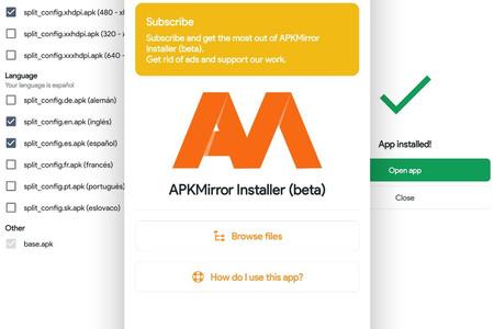 Cómo instalar 'App Bundles' de Android en formato APKM con APKMirror Installer