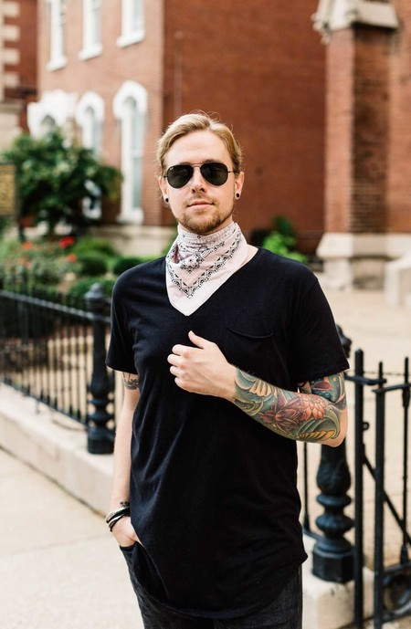 Panuelo Bandana Trendencias Hombre Street Style De La Semana 12