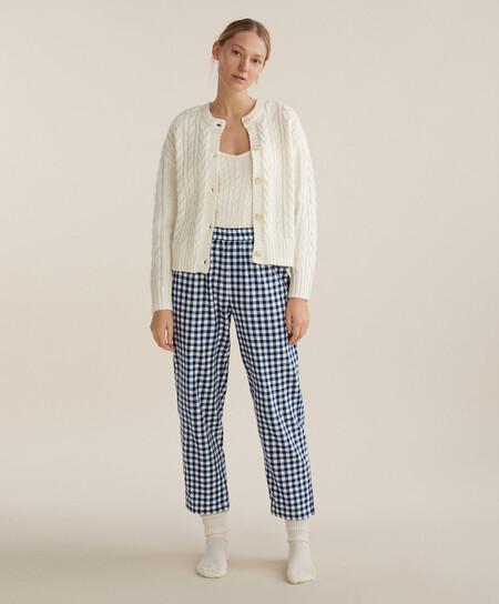 Pijama Cuadro Vichy Navidad Oysho 00003
