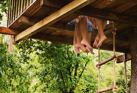 Getty Rm Photo Of Kids Playing In Tree House