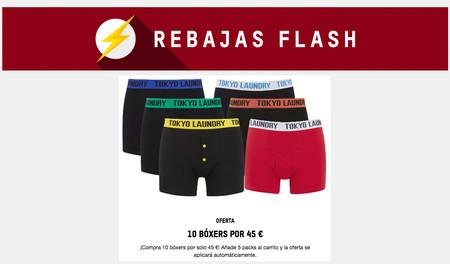 Rebajas Flash en Zavvi: pack de 10 bóxers Head, Tokyo Laundry, Crosshatch o  Brave Soul por sólo 45 euros