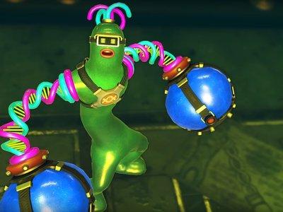 Verde por fuera, blando por dentro: así es Helix, el nuevo y alocado luchador de ARMS