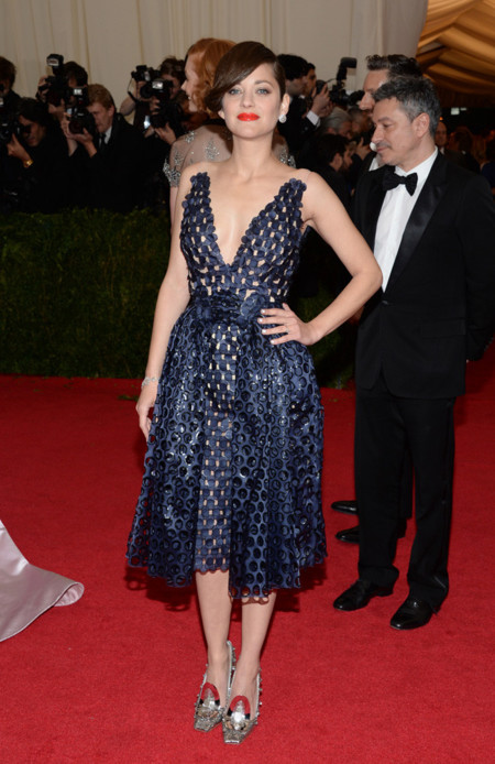 Marion Cotillard Gala MET 2014 peor vestidas