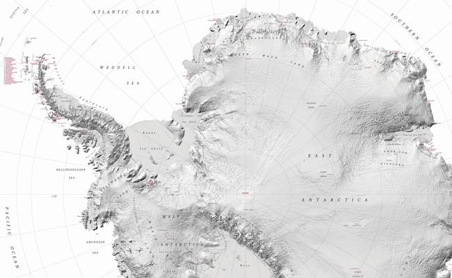La Antártida, al fin en alta resolución: el mapa que cartografía cada pliegue del continente