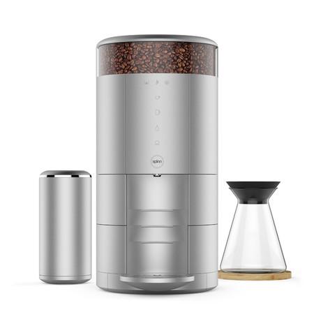 Una cafetera de diseño