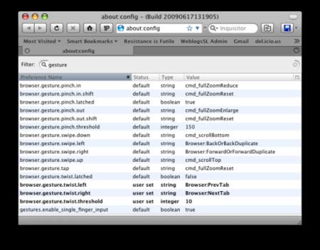 Truco: activa todos los gestos multitouch en Firefox 3.5