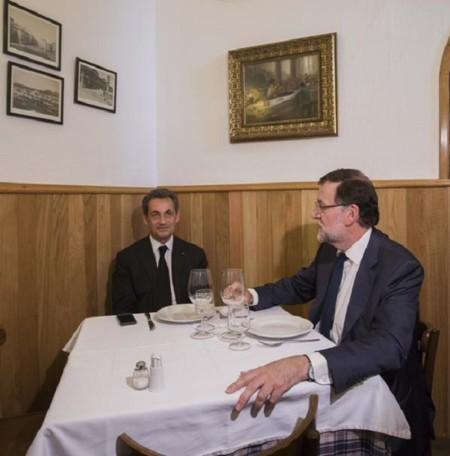 Rajoy y Sarkozy se convierten en el menú del día de Twitter