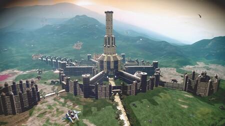 Un astronauta intergaláctico ha recreado la Ciudad Imperial de The Elder Scrolls IV: Oblivion en un planeta de No Man's Sky