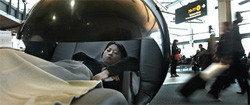 Échate la siesta en el... aeropuerto.