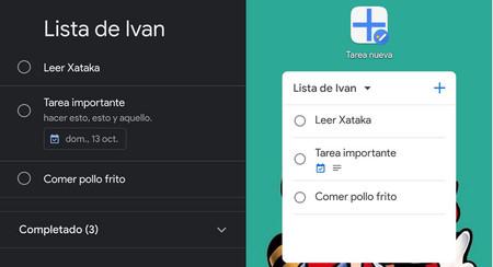 Tareas de Google añade el modo oscuro y dos widgets en su última actualización