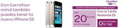 Carrefour Móvil se apunta al pago a plazos combinado con subvenciones con el iPhone 5S