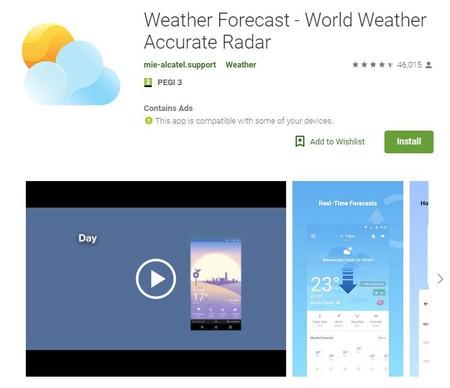 Weather Forecast en Google Play