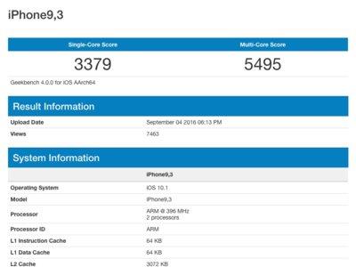 Aparecen los primeros (supuestos) geekbench del iPhone 7: ¿un 35% más potente que el iPhone 6s?