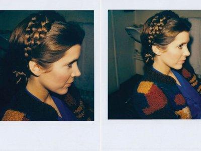 Decimos adios a la Princesa Leia y a sus preciosos peinados con estas Polaroids ineditas