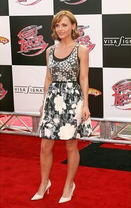 El look de Christina Ricci en la première de Speed Racer