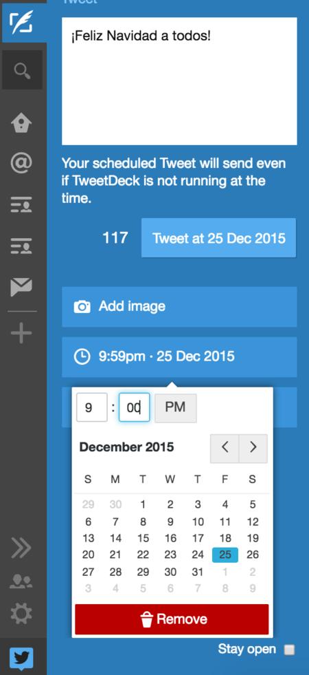 Tweetdeck Programar Tuit