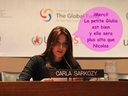 Carla Bruni nos dice 'Merci beaucoup'