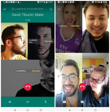 Llamadas y videollamadas grupales de WhatsApp: las hemos probado y te contamos cómo funcionan