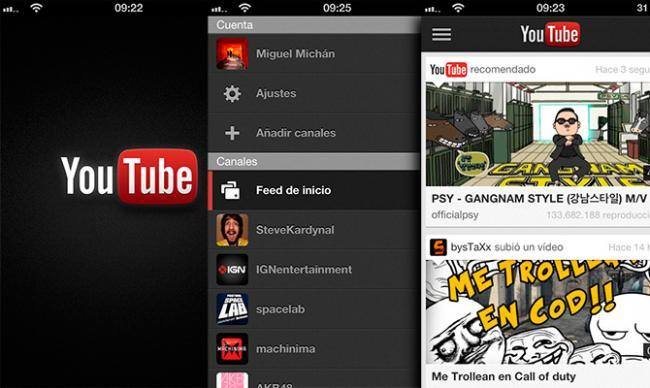 YouTube para iPhone y iPod Touch