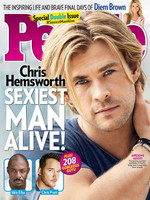 Y el mas sexy para People es... ¡Chris Hemsworth! A sus pies caballero...