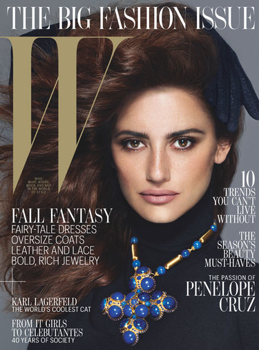 ¿Vuelta a los 90? ¡Ah, no! Es Penélope Cruz en W Magazine