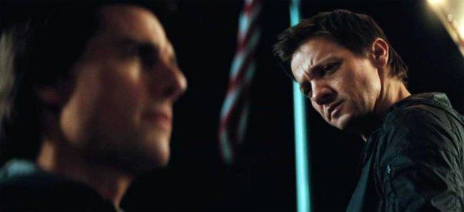 Jeremy Renner y Tom Cruise en 'Misión Imposible - Protocolo Fantasma'