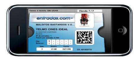 Yelmo te manda las entradas del cine al móvil