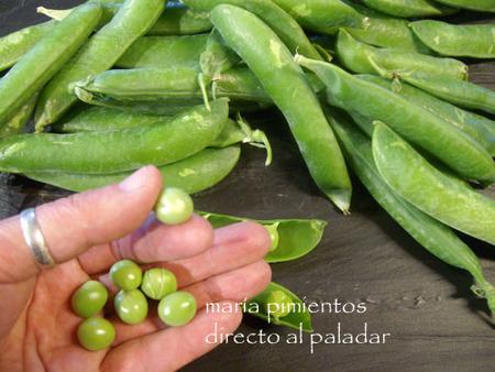 Guisantes, una legumbre que se come cruda