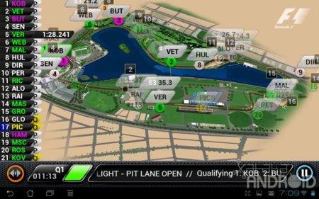 F1 2012 aplicación oficial live timing de Soft Pauer