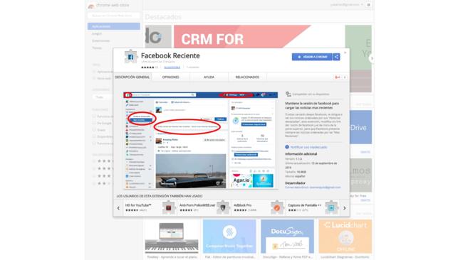 Con esta extensión de Chrome las noticias de Facebook siempre se ordenarán cronológicamente