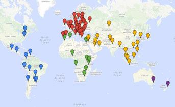 Así es el mapamundi de los milmillonarios más ricos de cada país del planeta