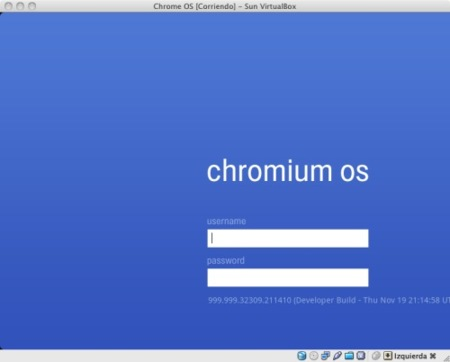 virtualbox chromeos login
