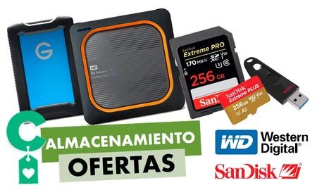 Ofertas en almacenamiento Western Digital y SanDisk. Amazon tiene los mejores precios para esos GBs que tanta falta te hacen