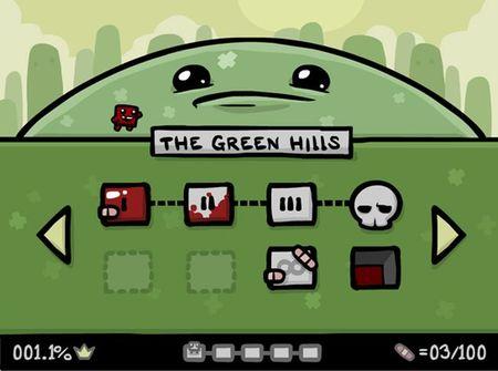 'Super Meat Boy: The Game'. Team Meat nos muestra The Green Hills, nos da más detalles sobre el juego, y suelta alguna pulla