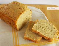 Pan rápido de cerveza de trigo con mozzarella y romero. Receta