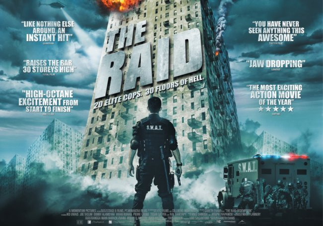 Un cartel de Redada Asesina (The Raid)