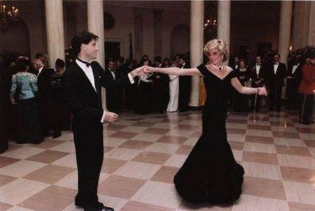 Travolta y Lady Di
