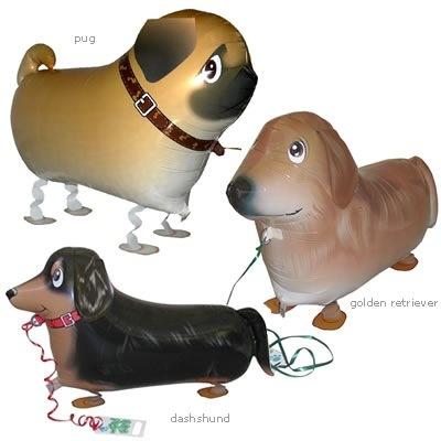 Globos con forma perro salchicha... ¡y andan!