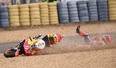 Marc Márquez ya es el piloto que más se ha caído del mundial de MotoGP pese a haber corrido dos carreras menos