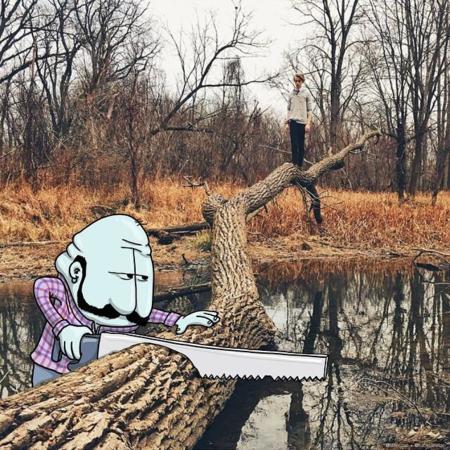 Lucas Levitan le busca las cosquillas a tus fotos de Instagram con sus ingeniosas ilustraciones