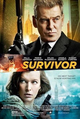 'Survivor', tráiler y cartel del thriller con Pierce Brosnan y Milla Jovovich
