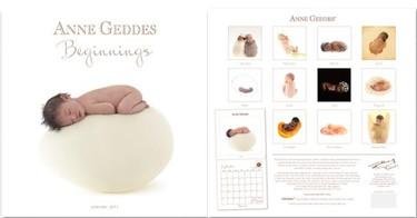 Beginnings: calendario 2011 de Anne Geddes