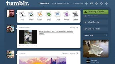 Tumblr modifica su escritorio y junta las preguntas y los envíos en un solo sitio: mensajes